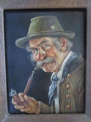 Barttenbach Hans (1908 - 1976) - Bildnis eines pfeiferauchenden Bauern