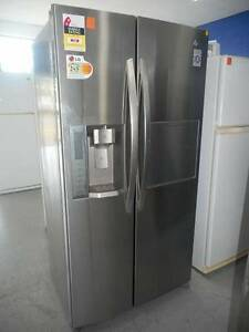 (MFF 281) Second Hand Fridge / Freezer  LG side by side 693 L Bundall Gold Coast City Preview