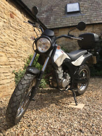 Derbi Cross City 125cc off-road influenced learner bike, nippy and manoeuvrable.