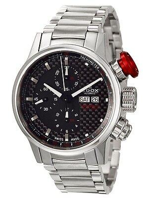 Swiss Made EDOX WRC Chronorally Automatic Chronograph Men's Watch 01112-3-NIN