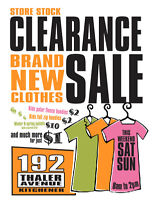 YARD SALE store stock clearance - BRAND NEW clothing from $1