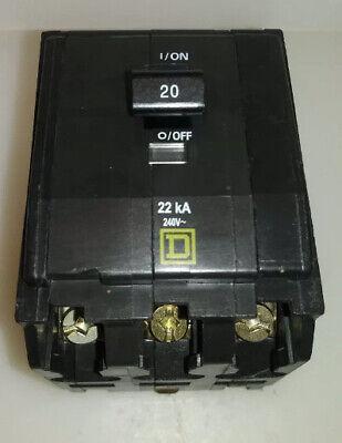 Square D Qob320 3 Pole 20 Amp 240 Volt Circuit Breaker Yellow Face X8