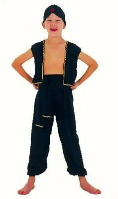 Aladdin genie Arabian boy childrens boys fancy dress costume 4 5 6 School - Male Genie Costume