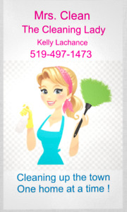 Mrs. Clean is Hiring!     WANTED:  Only the best cleaners