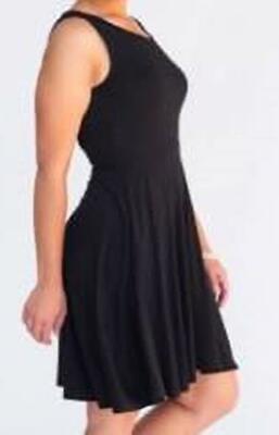 Agnes & Dora Fisher Dress Fit & Flare Sleeveless Solid Black Size XXL