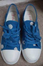 Cath kidston blue spot pumps size 6