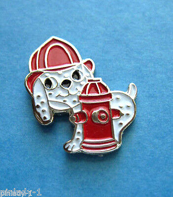 DALMATION FIRE DOG - fire hydrant - hat pin ,  lapel pin , tie tac GIFT BOXED