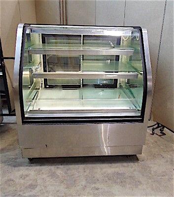 Rpi Commercial Display Refrigeratorfreezer Model Scdb48r-11 - Works Good -sr348