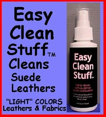 Easy Clean ~ 4 oz ~ Pump Spray ~ Suede LEATHER CLEANER Shoe s Coat, Purse