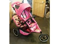 For Sale: Pink Camouflage Phil & Teds Inline Sport Double Buggy with Rain Hood & Cocoon