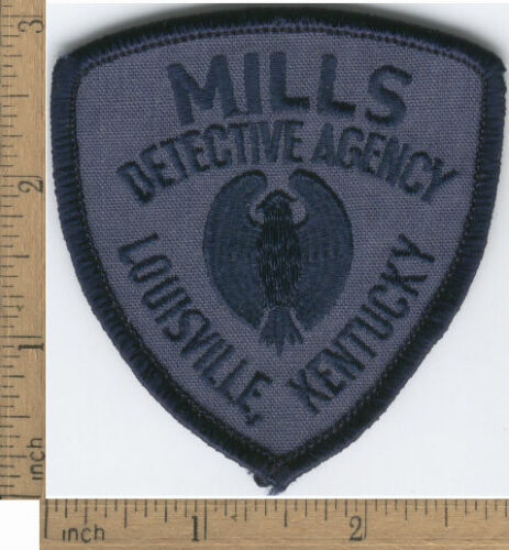 Vintage Mills Detective Agency Louisville Kentucky Embroidered Patch