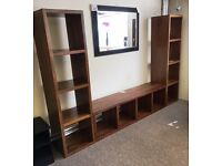 LARGE SOLID HARDWOOD DISPLAY UNIT / CUBES