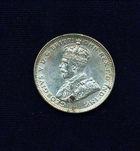 AUSTRALIA  GEORGE V  1927  SHILLING SILVER COIN, XF/AU