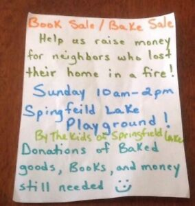 Children's Bake sale/book sale
