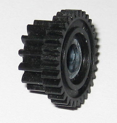 Dual Spur Thermoplastic Gear - 16.9mm 32t - 12.8mm 14t - 5mm Id - 8.5mm Thic