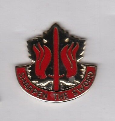 US Army 80th General Support Group Supply Quartermaster QM crest DUI badge G-23