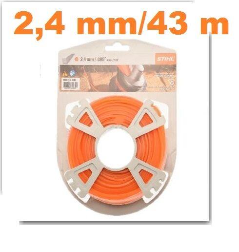 Stihl Mähfaden quadratisch 2,4mm x 43m karo  für Motorsense & Freischneider