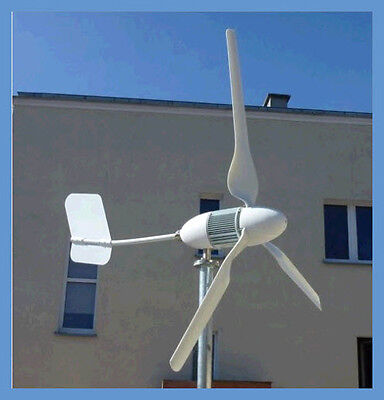 Wind Power Generator for 12, 24V DC Batteries 400 Watt output with Install Kit ()
