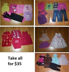 3T Girls Clothing Lot 1 (Take 28 Pieces for $35)