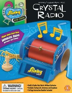 Details about slinky science sly minilab crystal radio kit sly02012