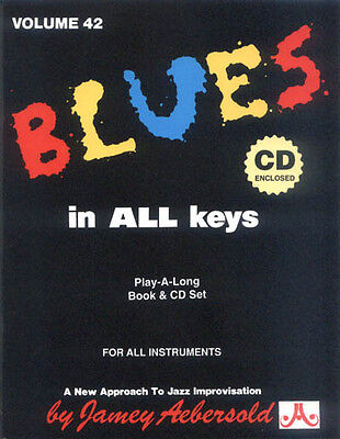 Jamey Aebersold Jazz Play-Along 42 Blues in All Keys Noten mit CD