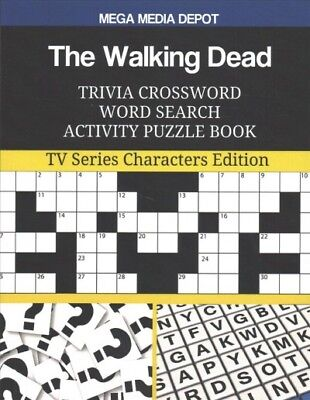 Walking Dead Trivia Crossword Word Search Activity Puzzle Book : TV Series Ch...