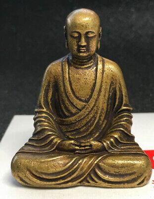Buddhism Vintage Bronze Sakyamuni Buddha Godness Kwan-yin Statue