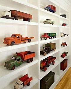 Pedal car, wagon, tricycle scooter, tin toy, pressed truck