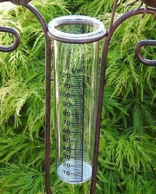 Regenmesser Ersatzglas Gartenstecker Garten Terrasse Beet Glas Regen D23323 Deko