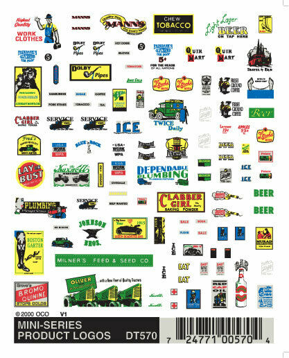 Woodland Scenics Mini-Series Product Logos Dry Transfer Decals DT570