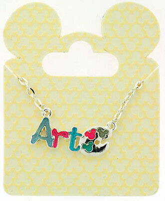 AUTHENTIC DISNEY PARKS MICKEY MOUSE ART  Necklace -