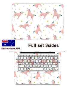 3 Sides pink unicorn Decal Cover+keyboard cover For Apple Macbook South Plympton Marion Area Preview