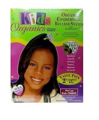 Relaxer / Glättungscreme Africa's Best Kids Organics SUPER  - 2 Complete Kits  - Relaxer Kit Super