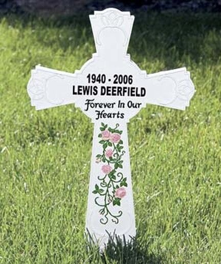 PERSONALIZED Memorial Cross Monument Cemetery Grave Stake Remembrance Resin Nice Everything Else