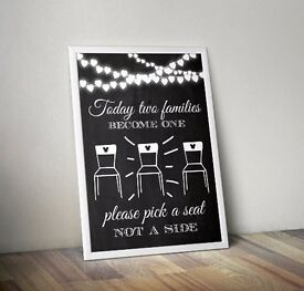 Wedding Print - Sign - Pick a Seat