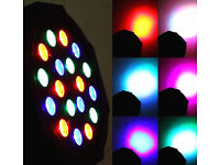 LED RGB 18W Par Can Light DMX Control Sound-Active Auto-Play Event DJ Disco Home Party