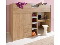 Hi Sleeper, built in Wardrobe, desk, draws