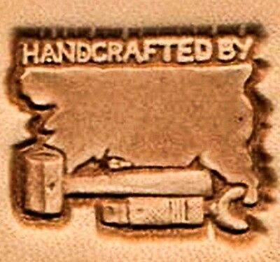 3D HANDCRAFTED BY LEATHER STAMP 88400-00 Tandy Stamping Tool Craft Stamps Tools