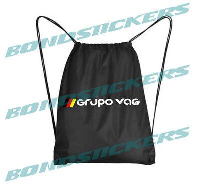 Mochila GRUPO VAG sport bolso bolsa gimnasio saco deporte vw german golf seat