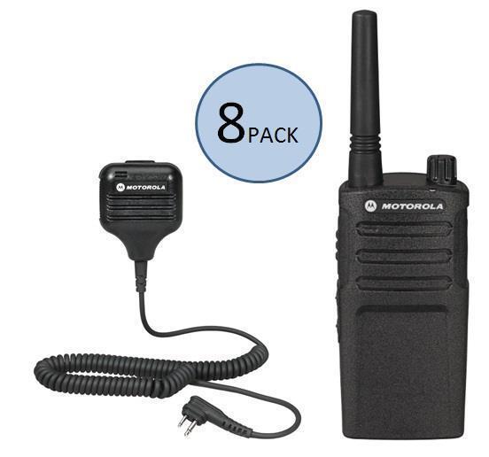 8 Motorola Rmu2040 Two Way Radio Walkie Talkies With Speaker Mics