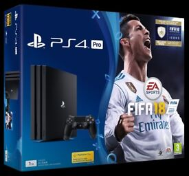 Sony Playstation 4 PRO 1TB Black - FIFA 18 Bundle With One Controller *New & Sealed*