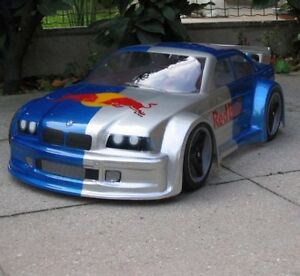 1/8 scale BMW M3 Rally Body 1.5mm Ofna GTP2 Inferno GT Serpent 1/10 Traxxas 0137