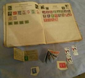 Stamp collection.