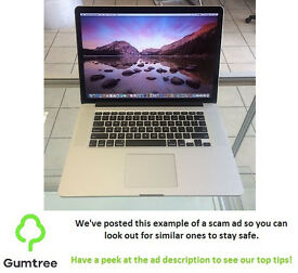 "Macbook Pro 15"" 2.5GHz quad core i7 (2015) with 16GB & 512GB SSD - Retina Display"