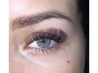 Russian volume lashes, classic eyelash extensions, sugar paste hair removal