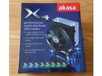 Akasa X4 CPU Cooler Fan LGA775 LGA115X LGA1366 AM4 AM3+ AM2+ FM2+ FM1