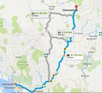 Rideshare offered for Kamloops, Clearwater - Aug 04, '17