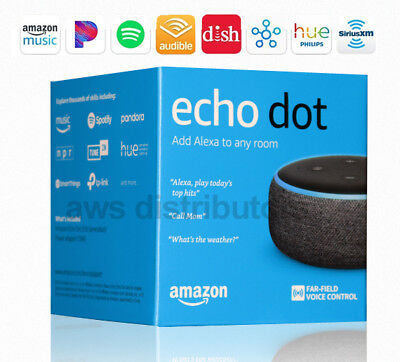 🔥 Amazon Echo Dot Latest 2018 (3rd Generation) Smart speaker Alexa Charcoal 🔥