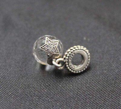 - Authentic Pandora Charm Clear Moon & Star Dangle 791392CZ slide Bead