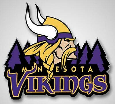 2  Minnesota Vikings Vinyl Glossy Stickers 4X3 5 Car Window Bumper Decal